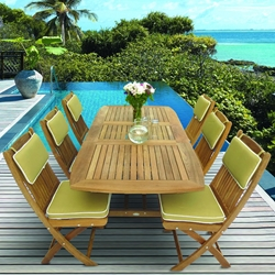 Royal Teak Sailor Rectangle Dining Set for 6 - RT-SAILOR-SET4
