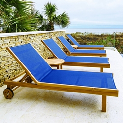 Royal Teak Sundaze Lounge Outdoor Furniture Set for 4 with 2 Side Tables - RT-SUNDAZE-SET1