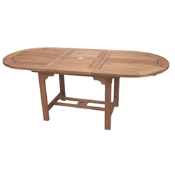 "Royal Teak Teak Family 96-120"" Oval Expansion Table - FEO10"