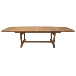 "Royal Teak Teak Gala 84-102-120"" Double Leaf Expansion Table - GALA84"