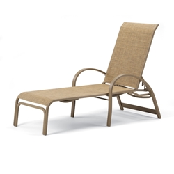 Aruba II Sling Four Position Lay Flat Stacking Chaise