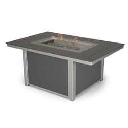 Telescope Casual 36 inch by 54 inch Rectangular Fire Pit Table - 4F10