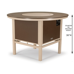 "54"" Round MGP Balcony Fire Table"