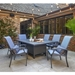 Outdoor fire table dining set