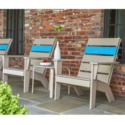 Telescope Casual Hudson Marine Grade Polymer Arm Chair Patio Set - TC-HUDSON-SET3