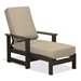 Adjustable back outdoor chaise