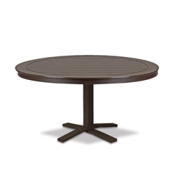 "Telescope Casual Marine Grade Polymer 42"" Round Chat Table with Pedestal Base - T120-1X20"