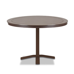 "Telescope Casual Marine Grade Polymer 42"" Round Dining Table with Pedestal Base - T120-2X20"