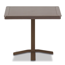 "Telescope Casual Marine Grade Polymer 32"" Square Dining Table with Pedestal Base - T150-2X20"