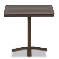 "Telescope Casual Marine Grade Polymer 32"" Square Balcony Height Table with Pedestal Base - T150-3X20"