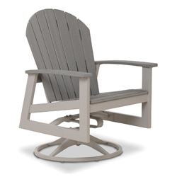 Telescope Casual Newport Swivel Rocker Dining Chair with Rustic Polymer - 1N60