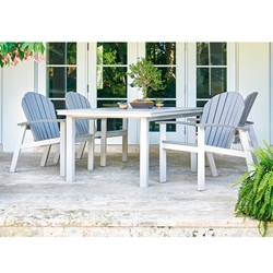 Telescope Casual Newport Dining Set with Adirondack Chairs - TC-NEWPORT-SET1