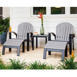 Telescope Casual Newport Adirondack Chair and Ottoman Set for 2 - TC-NEWPORT-SET4