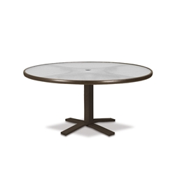"Telescope Casual Obscure Acrylic 42"" Round Chat Table with Pedestal Base - T900-ACR-1X20"