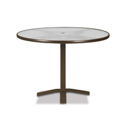 "Telescope Casual Obscure Acrylic 42"" Round Balcony Height Table with Pedestal Base - T900-ACR-3X20"
