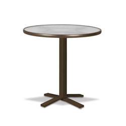"Telescope Casual Obscure Acrylic 30"" Round Bar Table with Pedestal Base - T980-ACR-4X20"