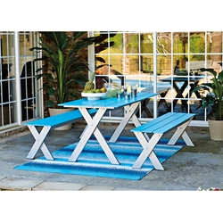Telescope Casual Plymouth Bay MGP Dining Set with Benches - TC-PLYMOUTHBAY-SET1