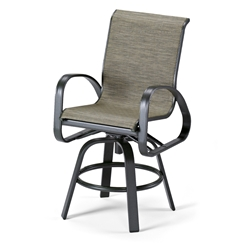 Primera Sling Counter-Height Swivel Arm Chair