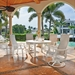 Telescope Casual St. Catherine Sling Patio Dining Set with High Back Chairs