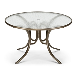 "48"" Round Obscure Acrylic Top Dining Table"