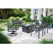 Telescope Casual Tribeca Sling Modern Outdoor Fire Table Set - TC-TRIBECA-SET4