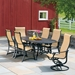 Telescope Casual Villa Sling Outdoor Dining Set with High Back Chairs