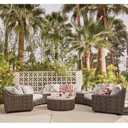 Tommy Bahama Cypress Point Ocean Terrance Curved Wicker Sectional Set - TB-CYPRESSPOINT-SET1
