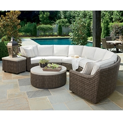 Tommy Bahama Cypress Point Curved Wicker Sectional Set with Boxed Cushions - TB-CYPRESSPOINT-SET2