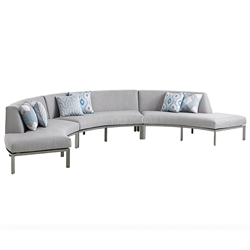 Tommy Bahama Del Mar Curved Sectional Love Seat Set - TB-DELMAR-SET11