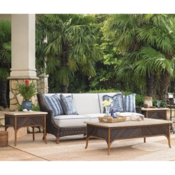 Tommy Bahama Island Estate Lanai Sofa with Cocktail and Side Tables - TB-ISLANDESTATE-SET6