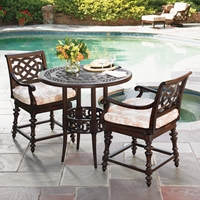 Tommy Bahama Black Sands Counter Height Bistro Set for 2 - TB-BLACKSANDS-SET4
