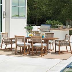 Tommy Bahama St Tropez Outdoor Patio Dining Set for 6 - TB-STTROPEZ-SET9