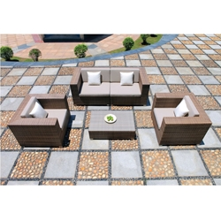 Tropitone Arzo Woven Cushion Outdoor Loveseat Sectional and Lounge Chair Set - TT-ARZO-SET3