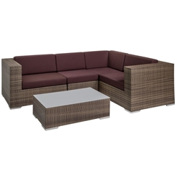 Tropitone Arzo Woven Cushion Outdoor Sectional Set with Coffee Table - TT-ARZO-SET7