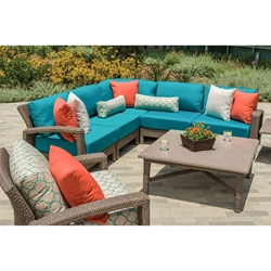 Tropitone Evo Woven Outdoor Sectional Set with Coffee Table - TT-EVO-SET2