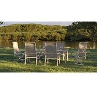 Tropitone Marconi Sling Outdoor Dining Set for 6 - TT-MARCONI-SET3