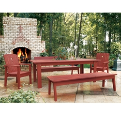 Uwharrie Chair Behrens Large Dining Set with Benches - UW-BEHRENS-SET2