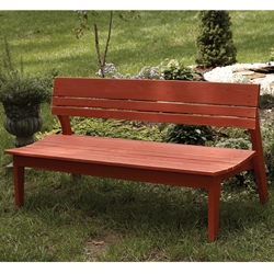 Uwharrie Chair Behrens Four-Seat Bench with Back - B074