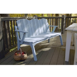 Uwharrie Chair Carolina Preserves Three-Seat Bench with Back - C073