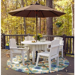 Uwharrie Chair Carolina Preserves Patio Dining Set for 4 - UW-CAROLINA-SET1