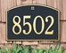 Cape Charles Estate Wall Address Plaque - One Line - 1171
