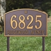 Cape Charles Standard Lawn Address Plaque - Two Line - 1178