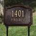 Williamsburg Standard Lawn Address Plaque - Two Line - 1293