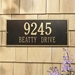 Hartford Estate Wall Address Plaque - Two Line - 1325