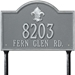 Bayou Vista Standard Lawn Address Plaque - Two Line - 2846