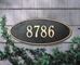 Madison Oval Estate Wall Address Plaque - One Line - 4009