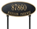 Madison Oval Standard Lawn Address Plaque - Two Line - 4014