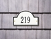 Arch Marker Petite Wall Address Plaque - One Line - 1007