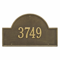 Arch Marker Estate Wall Address Plaque - One Line