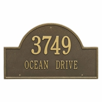 Arch Marker Estate Wall Address Plaque - Two Line